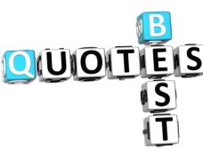 3D Best Quotes Crossword on white background